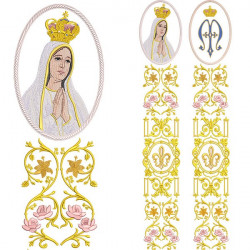 SET FOR GALLONDOUBLE SET FOR GALÃO OUR LADY OF FATIMA