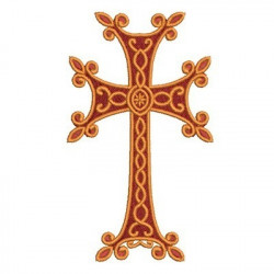 DECORATED CROSS 134