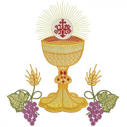 CHALICE HOSTS CONSECRATED 27 CM