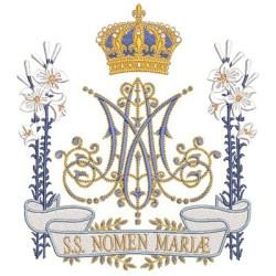 MONOGRAMA MARIANO SS NOMEN MARIAE