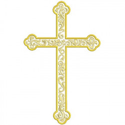 DECORATED CROSS 20 CM