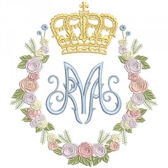 MARIAN FLORAL WITH CROWN