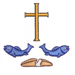 FISH CROSS AND BREAD