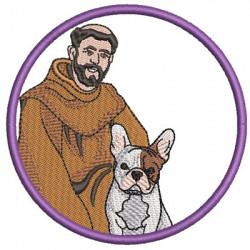 ST FRANCIS BLESS MY BULLDOG FRENCH 2