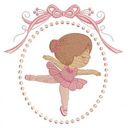 CUTE BALLERINA IN FRAME 4