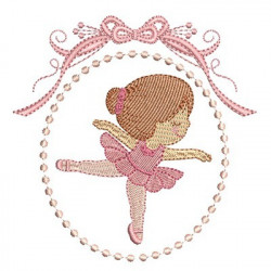 CUTE BALLERINA IN FRAME 8