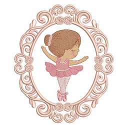 CUTE BALLERINA IN FRAME 12