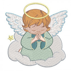 ANGEL IN THE CLOUD PRAYING