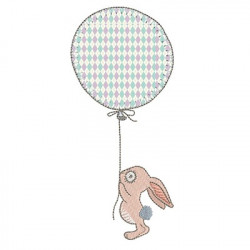 BUNNY WITH APPLIED BALLOON 4