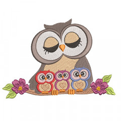 MOTHER OWL OF 3 CHILDREN