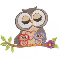 MOTHER OWL OF 2 CHILDREN