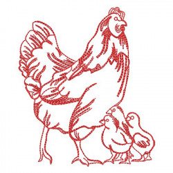 REDWORK CHICKEN 3