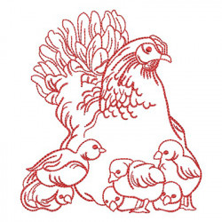 REDWORK CHICKEN 4