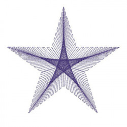 STAR STRING ART 20 CM