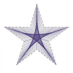 STAR STRING ART 15 CM