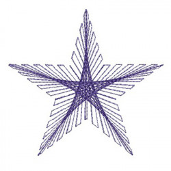 STAR STRING ART 9 CM