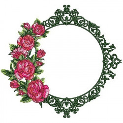 PROVENCE FRAME 13 CM WITH ROSES