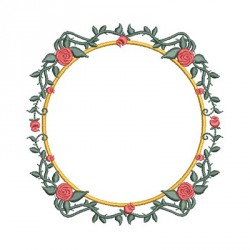 FRAME BRANCH WITH ROSES 2