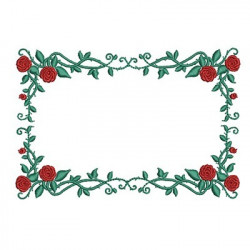 FRAME BRANCH WITH ROSES 3