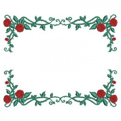 FRAME BRANCH WITH ROSES 4