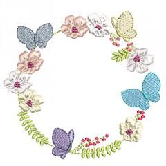 FLOWER FRAMES AND BUTTERFLIES