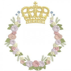 LARGE FLORAL FRAME WITH CROWN