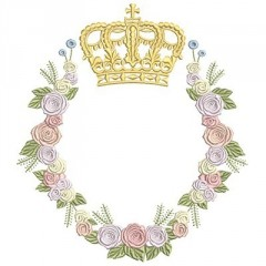 BIG FLORAL FRAME WITH CROWN 2