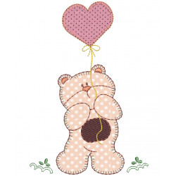 BEAR WITH BLADDER APPLIQUE February 2015
