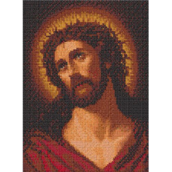 JESUS IN POINT CROSS 16 X 12