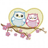 OWLS COUPLE 18 CM