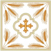 5 EMBROIDERED ALTAR CLOTHS - 93