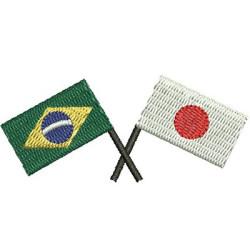 BANDERA BRASIL Y JAPÓN 2