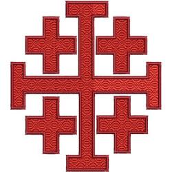CRUZ DE JERUSALÉM 12,5 CM ESTOLAS