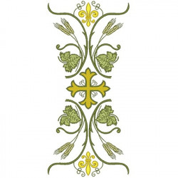 BARRED WITH CROSS 35 CM CHASUBLES & GALLON