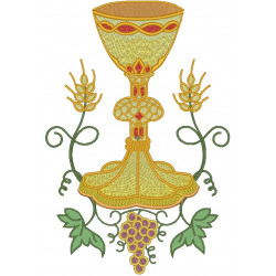 CHALICE WITH GRAPE AND WHEAT 26 CM