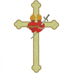 SACRED AND IMMACULATE CROSS 28 CM