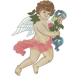 ANGEL WITH FLOWERS