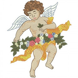 ANGEL WITH FLOWERS ARC