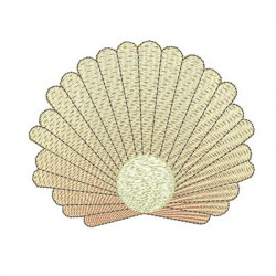 SHELL WITH PEARL 12 CM