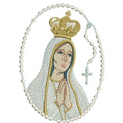 OUR LADY OF FATIMA ROSARY 10CM