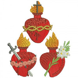 THREE SACRED HEARTS AND IMMACULATE