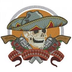 SKULL MEXICAN 28 CM