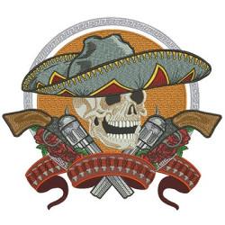 SKULL MEXICAN 28 CM SKULLS HALLOWEEN