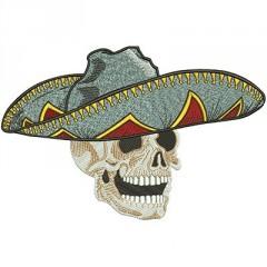SKULL MEXICAN 22 CM