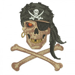 SKULL PIRATE 13 CM May 2015