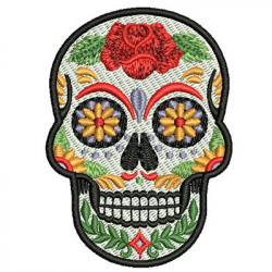 SKULL MEXICAN 8 CM BADGES PATCHES