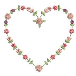 HEART FLORAL 10CM