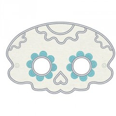 MEXICAN SKULL MASK SMALL