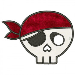 SMALL PIRATE SKULL MASK