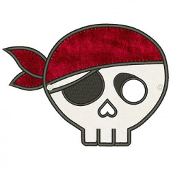 BIG PIRATE SKULL MASK